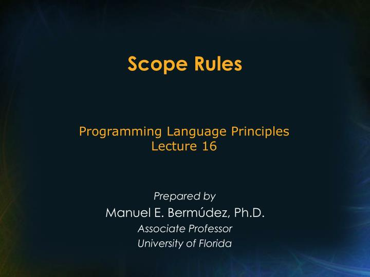 Scope Rules