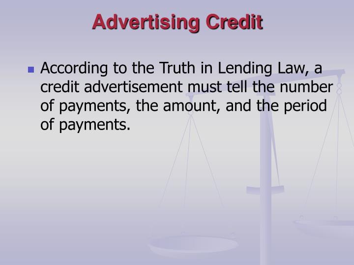 Advertising Credit