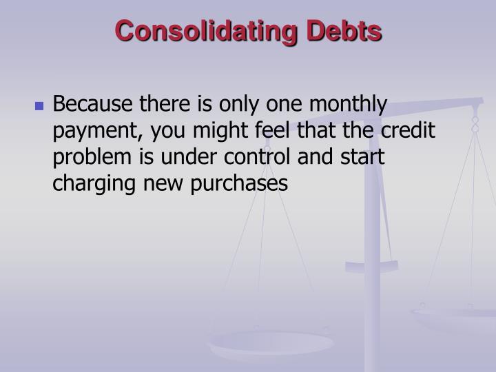 Consolidating Debts