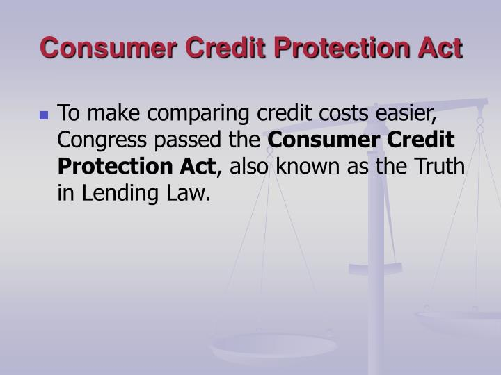 Consumer Credit Protection Act