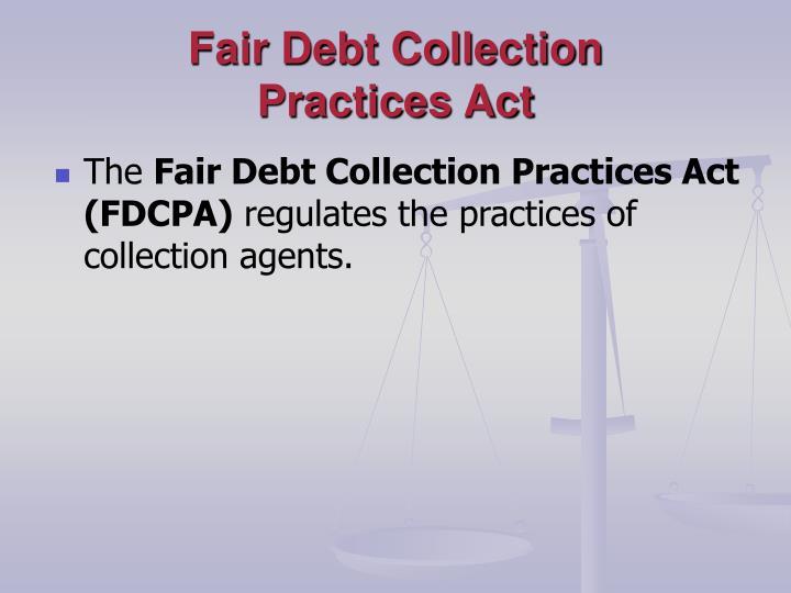 Fair Debt Collection