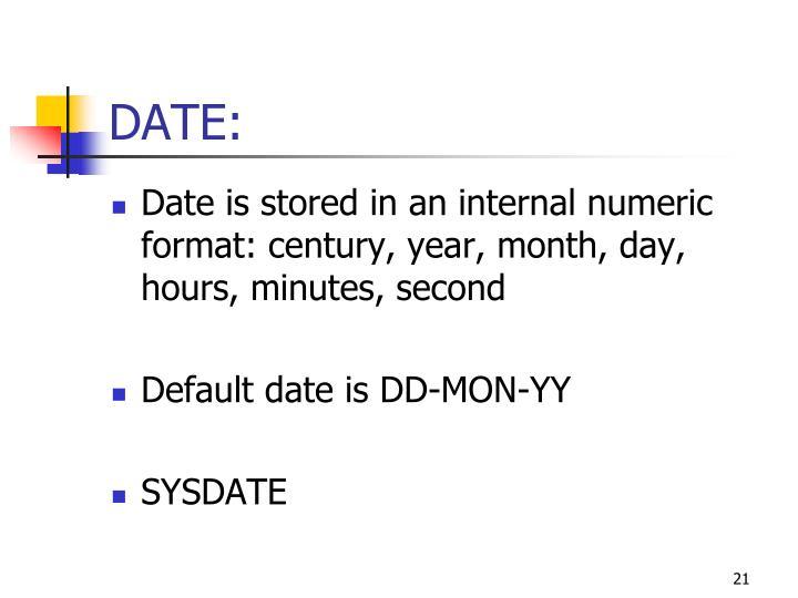 DATE:
