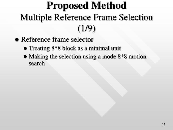 Reference frame selector