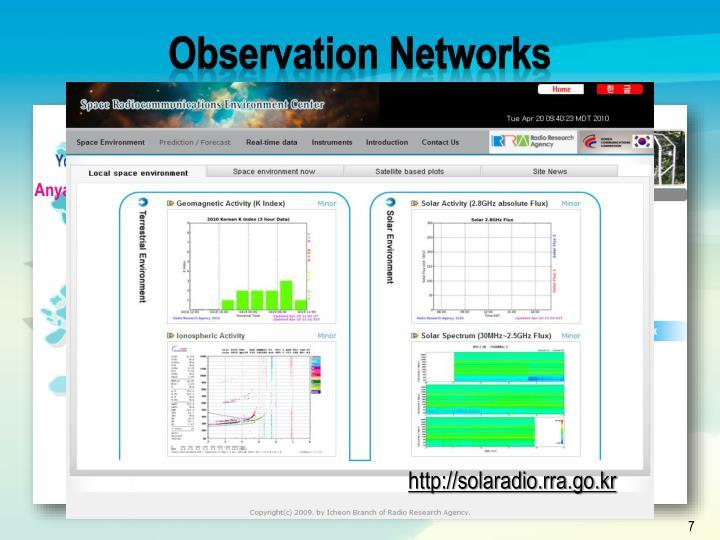 Observation Networks