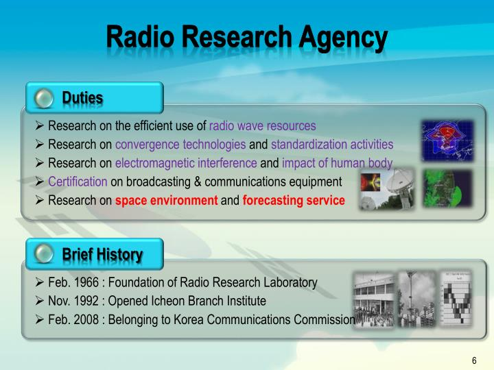 Radio Research Agency