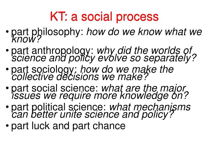 KT: a social process