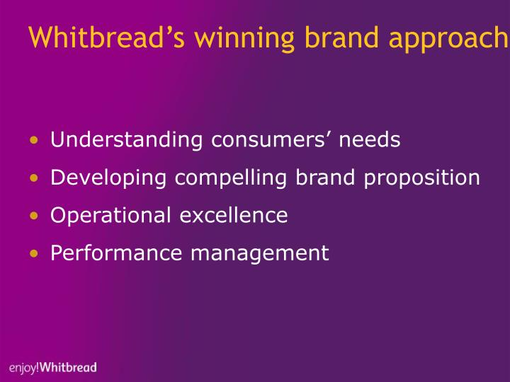 Whitbread's winning brand approach