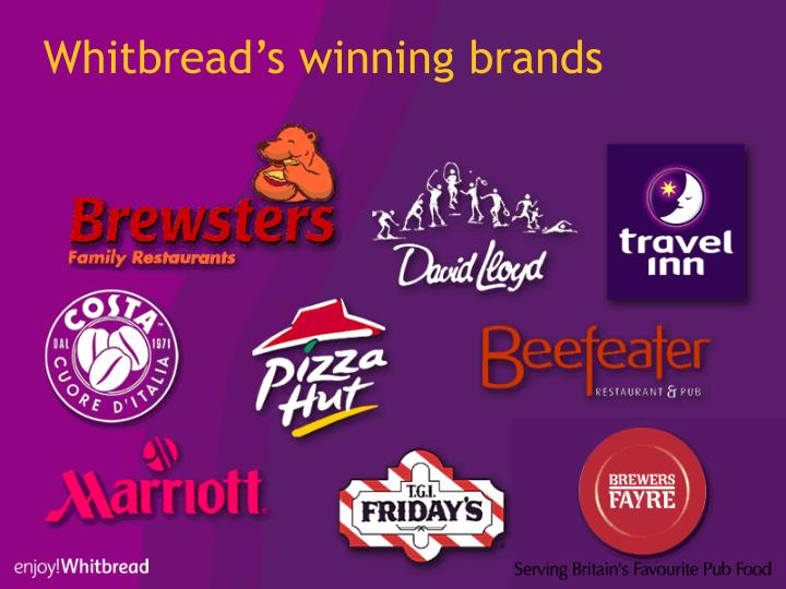 Whitbread's winning brands