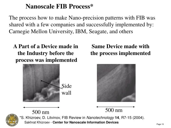 Nanoscale FIB Process*