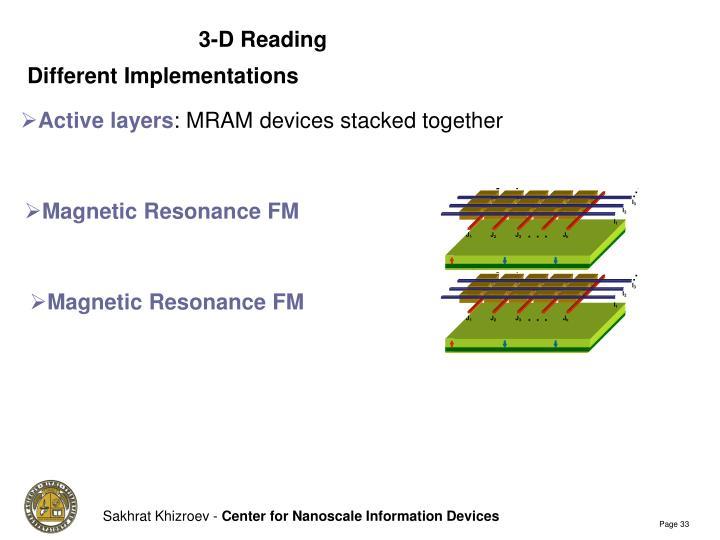 3-D Reading