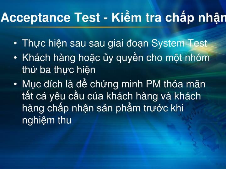 Acceptance Test -