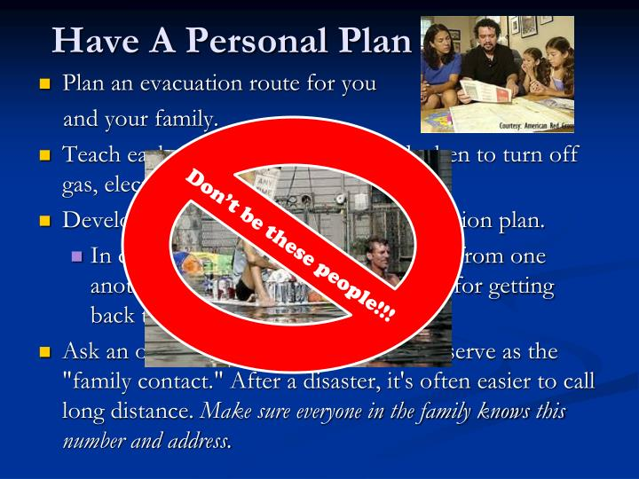 Have A Personal Plan