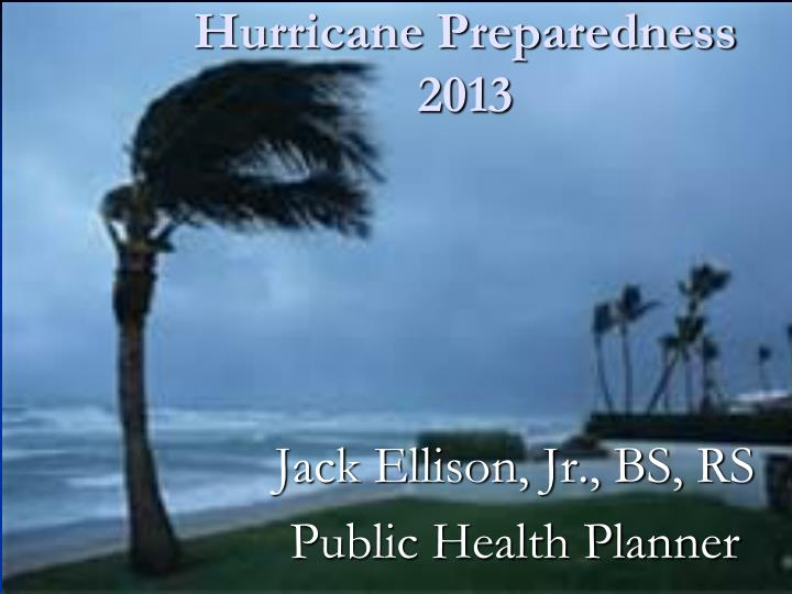 Hurricane preparedness 2013