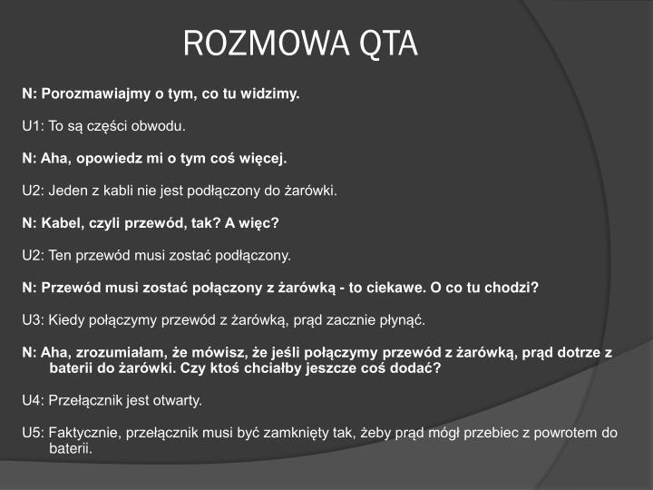ROZMOWA QTA