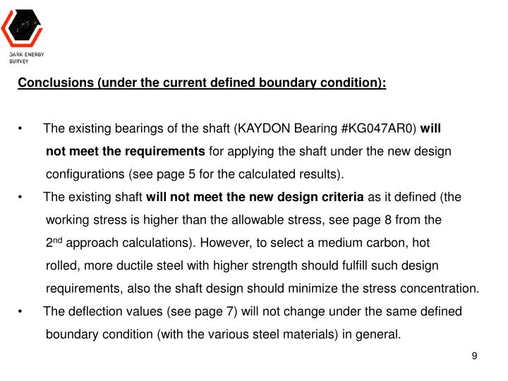 Conclusions (under the current defined boundary condition):