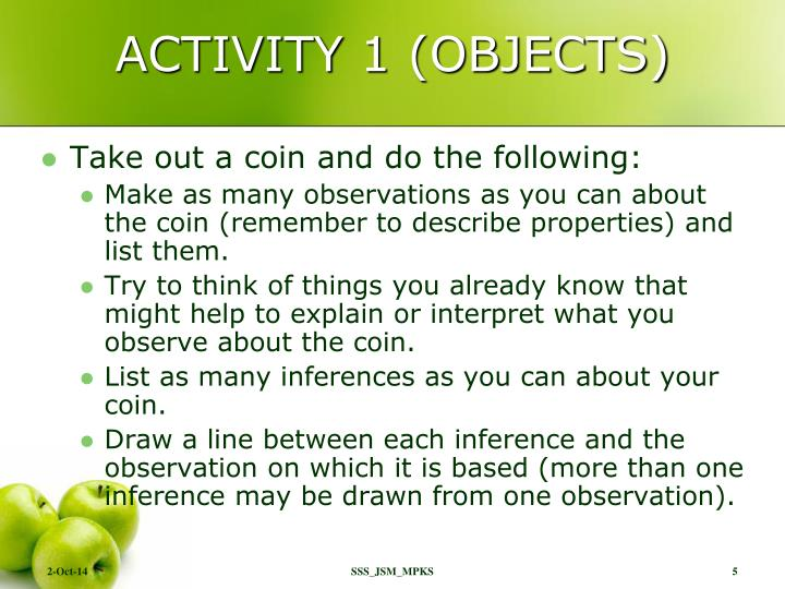 ACTIVITY 1 (OBJECTS)
