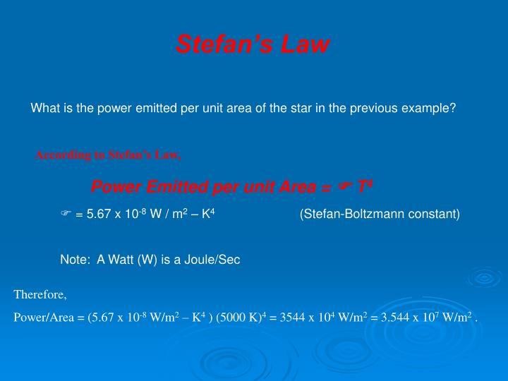 Stefan's Law
