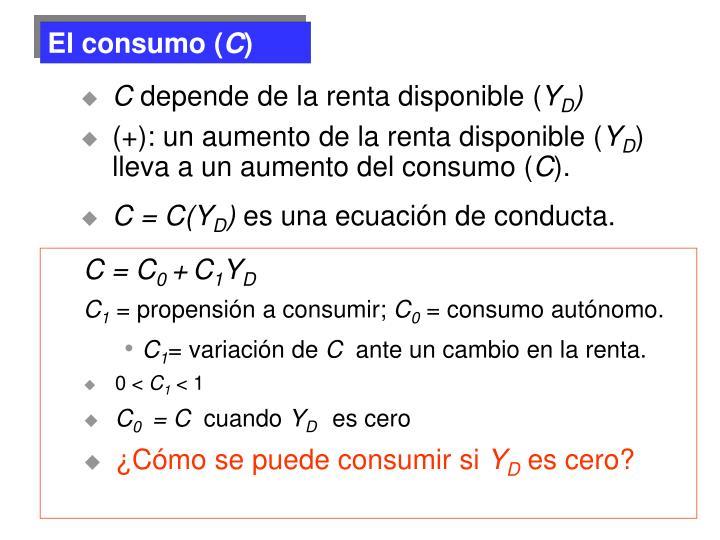 El consumo (