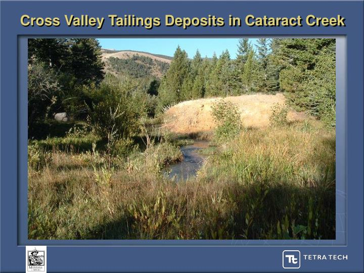 Cross Valley Tailings Deposits in Cataract Creek