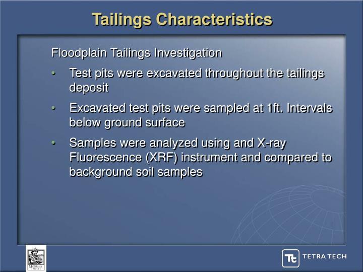 Tailings Characteristics