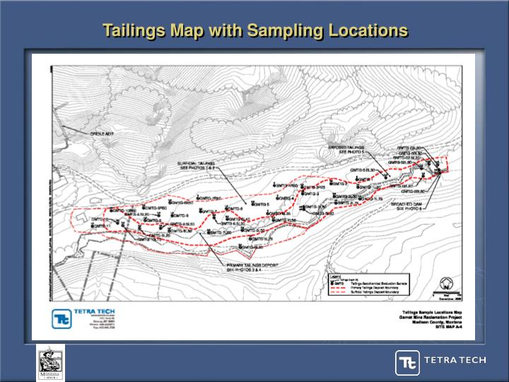 Tailings Map with Sampling Locations