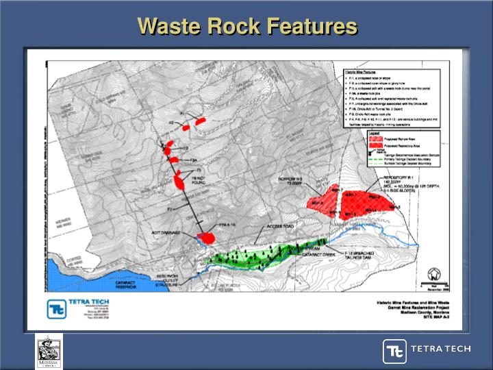 Waste Rock Features