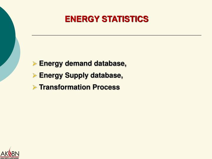 Energy demand database,