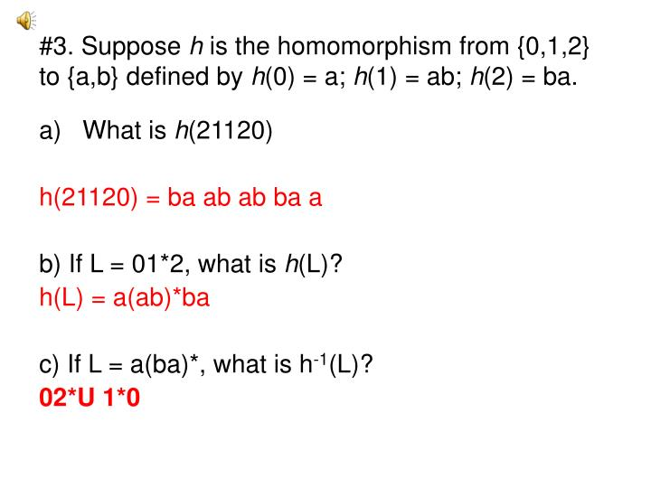 #3. Suppose