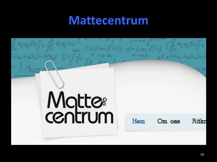 Mattecentrum