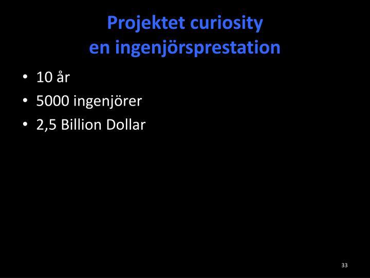 Projektet curiosity