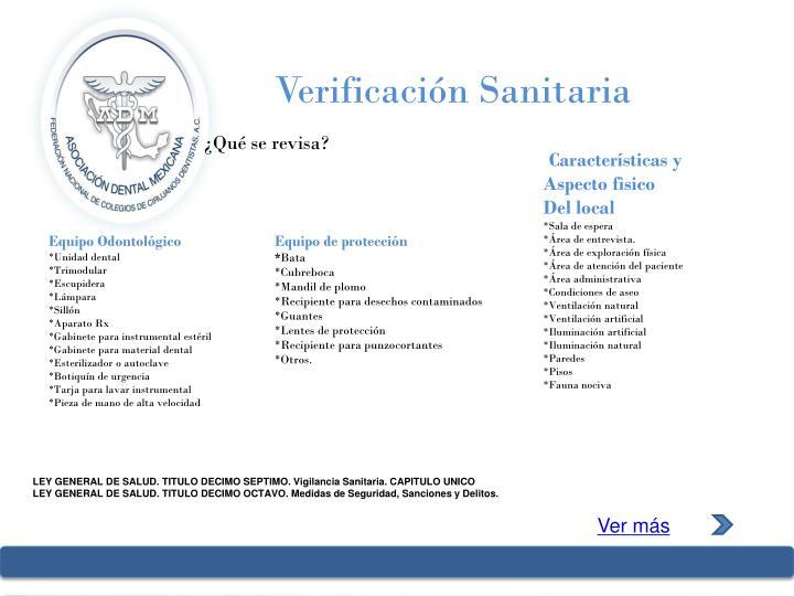 Verificación Sanitaria