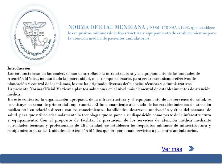 NORMA OFICIAL MEXICANA ,