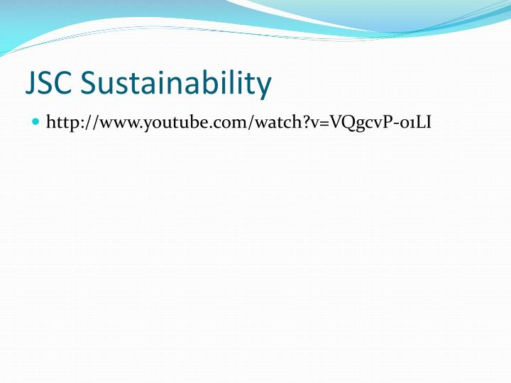 JSC Sustainability