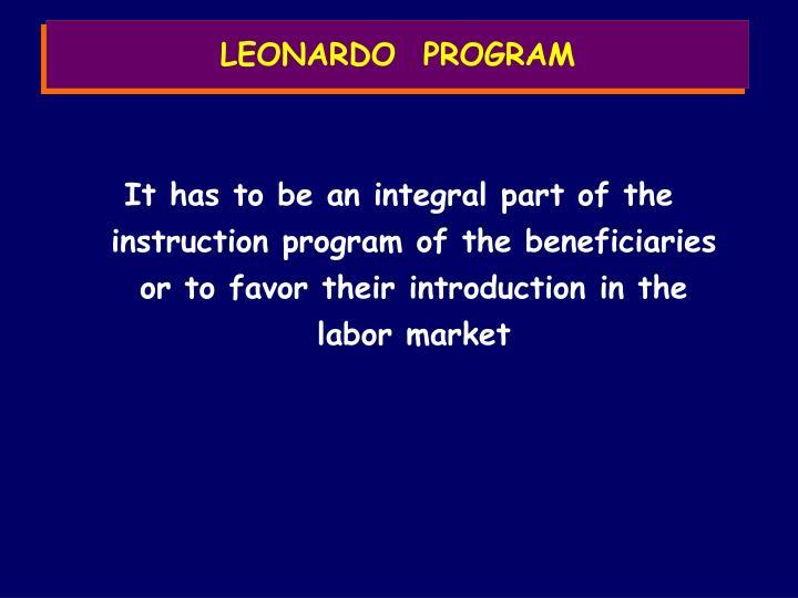 LEONARDO  PROGRAM