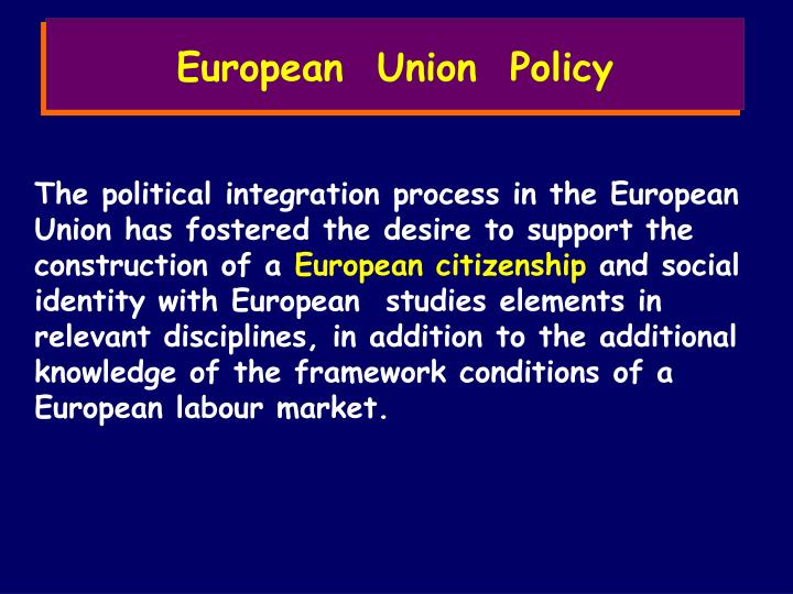 European  Union  Policy