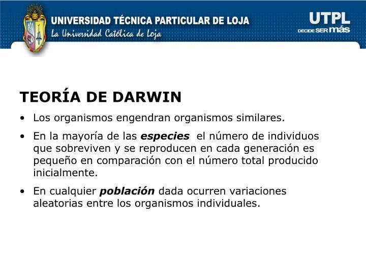 TEORÍA DE DARWIN