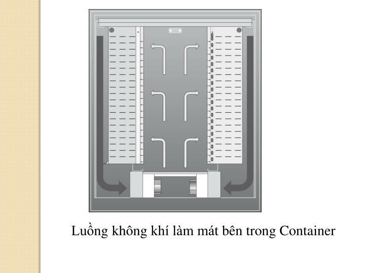 Luồng không khí làm mát bên trong Container