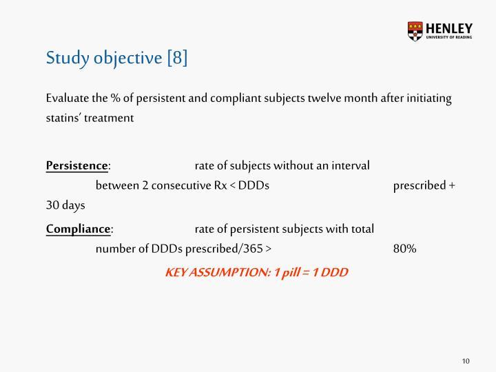Study objective [8]