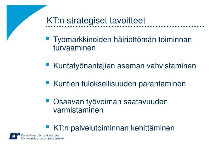KT:n strategiset tavoitteet