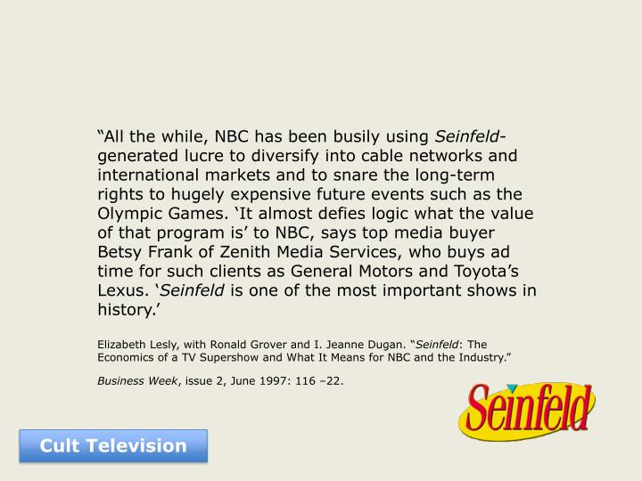 """""""All the while, NBC has been busily using"""
