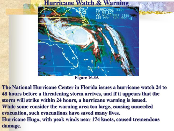 Hurricane Watch & Warning