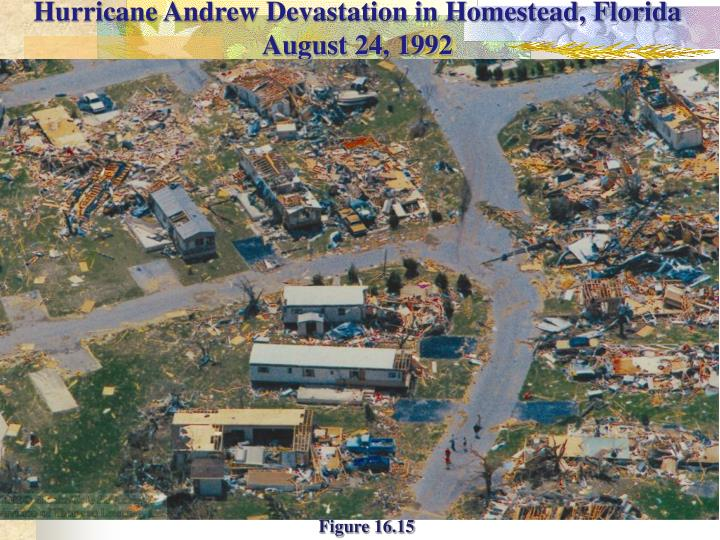 Hurricane Andrew Devastation in Homestead, Florida August 24, 1992