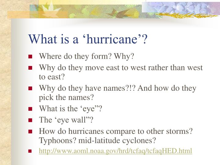 What is a hurricane