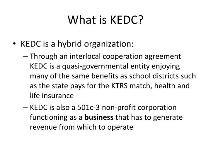 What is kedc
