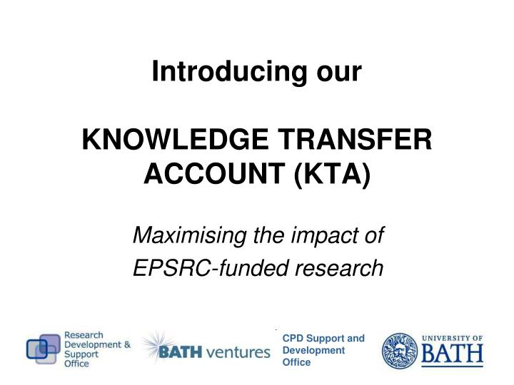 Introducing our knowledge transfer account kta