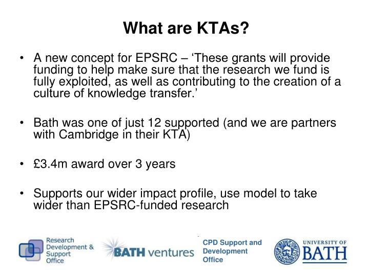What are KTAs?