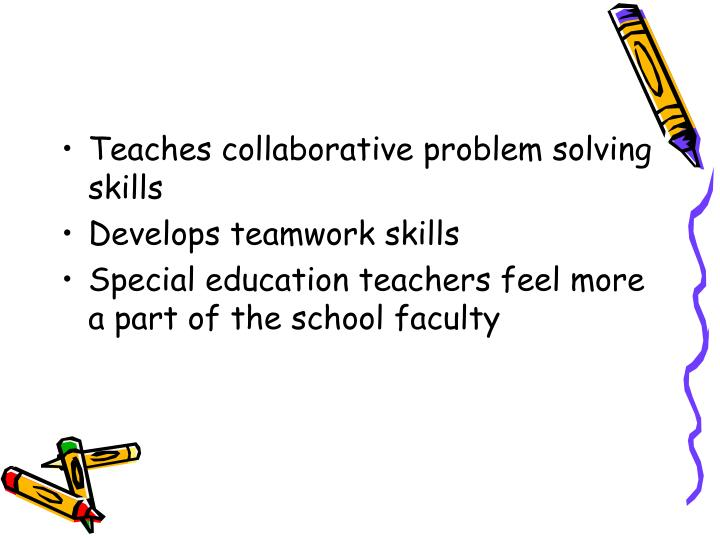 Collaborative Teaching With Special Education : Ppt inclusion powerpoint presentation id