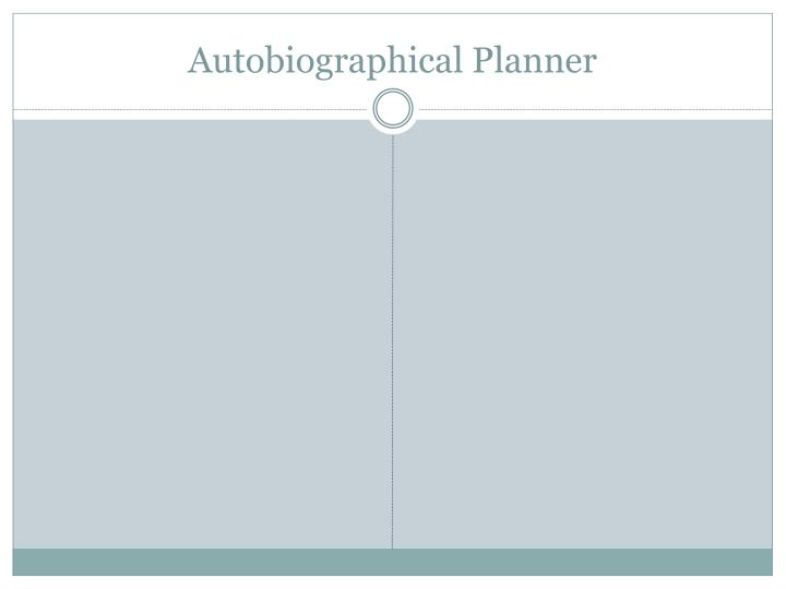 Autobiographical Planner