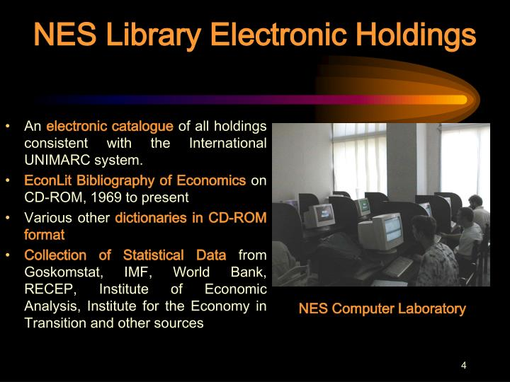 NES Library Electronic Holdings