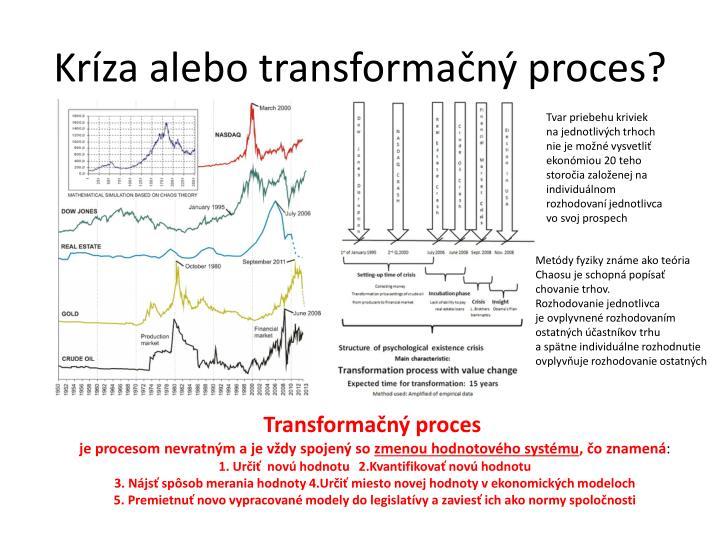 Kríza alebo transformačný proces?